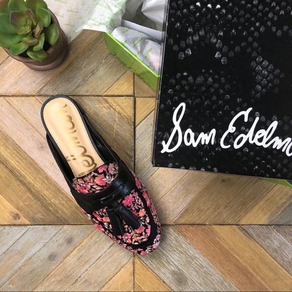 35a7bc10c545 •SAM EDELMAN• Paris 2 Embroidery Tassel Mule Flat